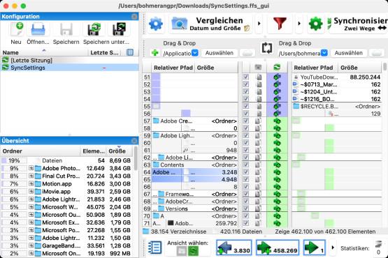 Screenshot 1 - FreeFileSync (Mac)