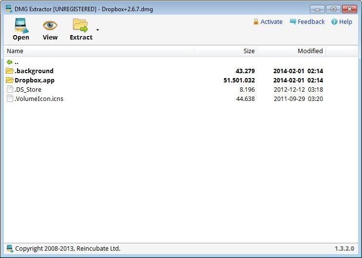Screenshot 1 - DMG Extractor