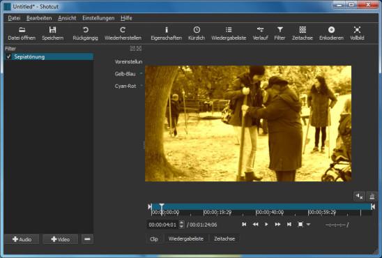 Videos bearbeiten mit Shotcut ©COMPUTER BILD, Meltytech
