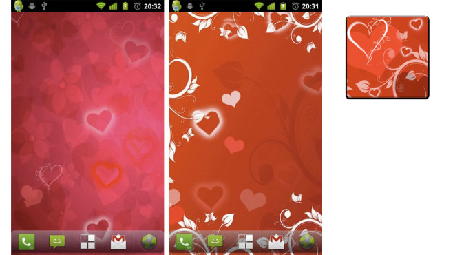 Hearts Live Wallpaper © Marat Faseev