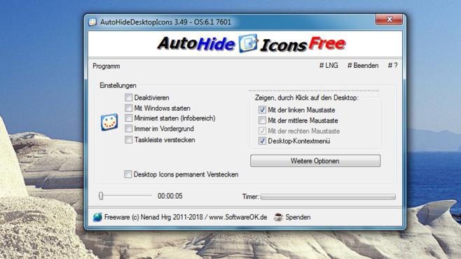 AutoHideDesktopIcons: Desktop-Symbole ausblenden ©COMPUTER BILD