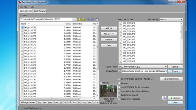 FastStone Photo Resizer: Bilder bearbeiten und umwandeln ©COMPUTER BILD