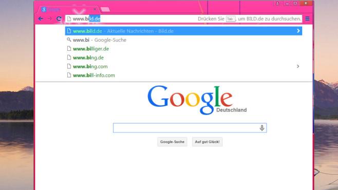 Google Chrome: Webseiten mit Eingabehilfe aufrufen ©COMPUTER BILD