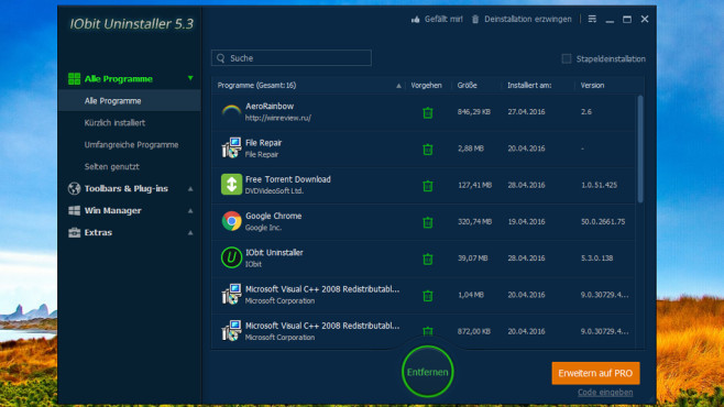 IObit Uninstaller: Programme schnell deinstallieren ©COMPUTER BILD