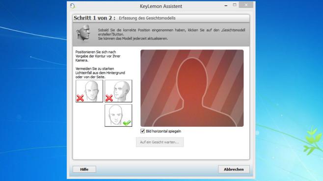 KeyLemon: Windows-Anmeldung per Gesicht ©COMPUTER BILD