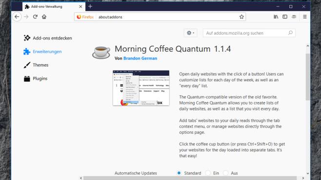 Morning Coffee: Webseiten in einem Rutsch öffnen ©COMPUTER BILD