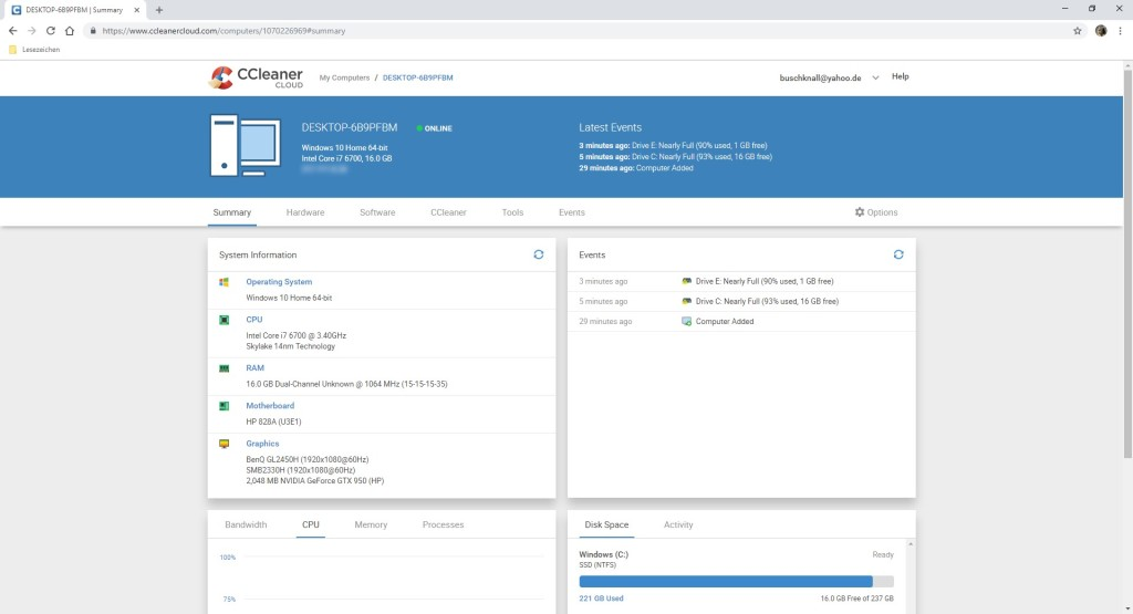 Screenshot 1 - CCleaner Cloud