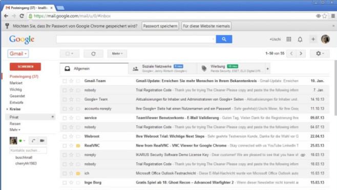 Alternative Gmail ©COMPUTER BILD