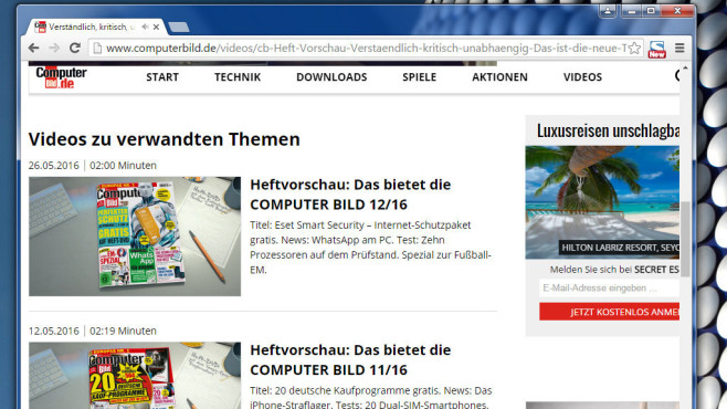Alternative: Google Chrome © COMPUTER BILD