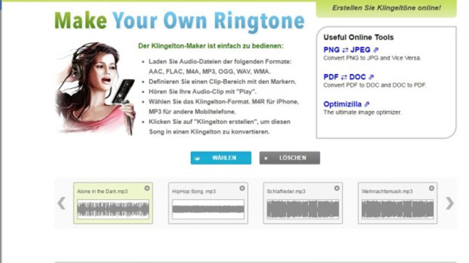 Alternative: Make Your Own Ringtone © COMPUTER BILD