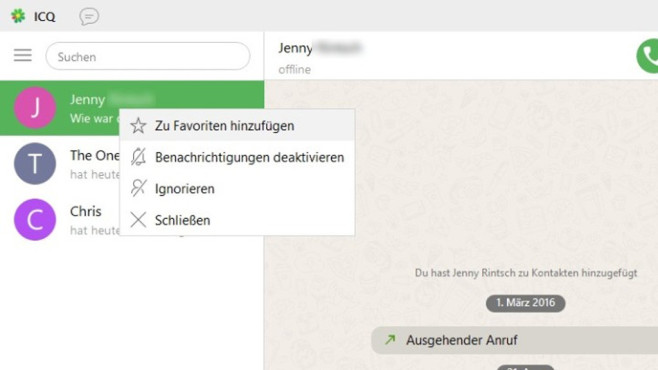 Alternativen: ICQ, Skype, Franz, Rambox ©COMPUTER BILD