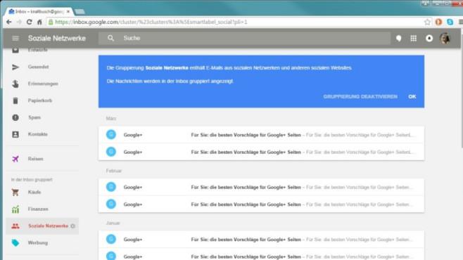 Google Inbox: E-Mail-Dienst mit Auto-Sortierung ©COMPUTER BILD