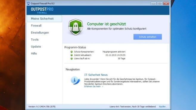Outpost Firewall Pro: Hacker-Übergriffe vereiteln ©COMPUTER BILD