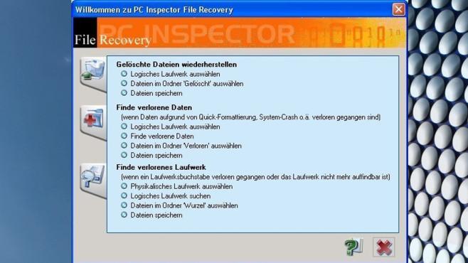 PC Inspector File Recovery: Gelöschte Dateien retten ©COMPUTER BILD