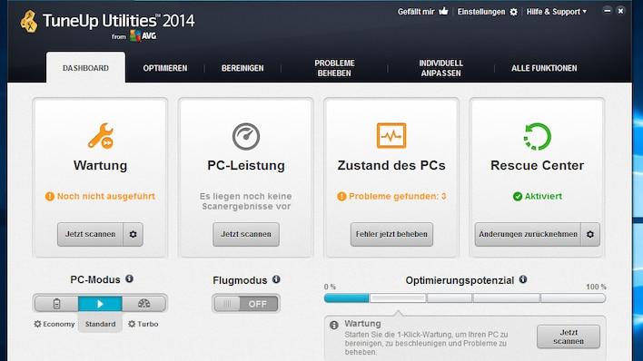 TuneUp Utilities 2014: Optimierungssuite mit starker Automatisierung