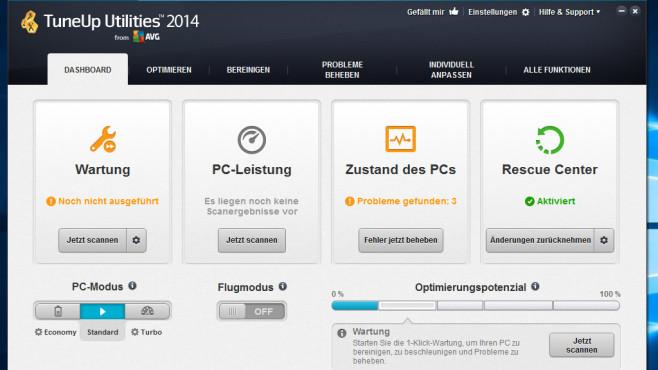 TuneUp Utilities 2014: Optimierungssuite mit starker Automatisierung ©COMPUTER BILD