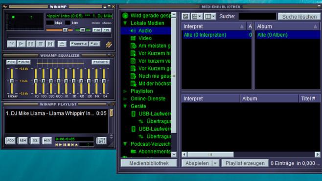 Winamp: Musikplayer im schwarzen Gewand ©COMPUTER BILD