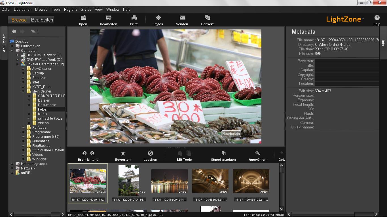 Screenshot 1 - LightZone