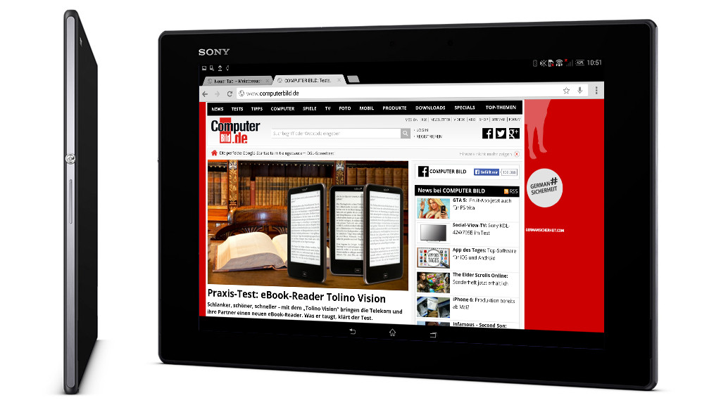 Sony Xperia Z2 Tablet: Test des ultradünnen Androiden ...