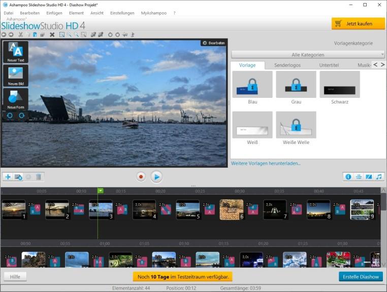 Screenshot 1 - Ashampoo Slideshow Studio HD