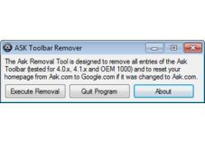 Screenshot 1 - Ask Toolbar Remover