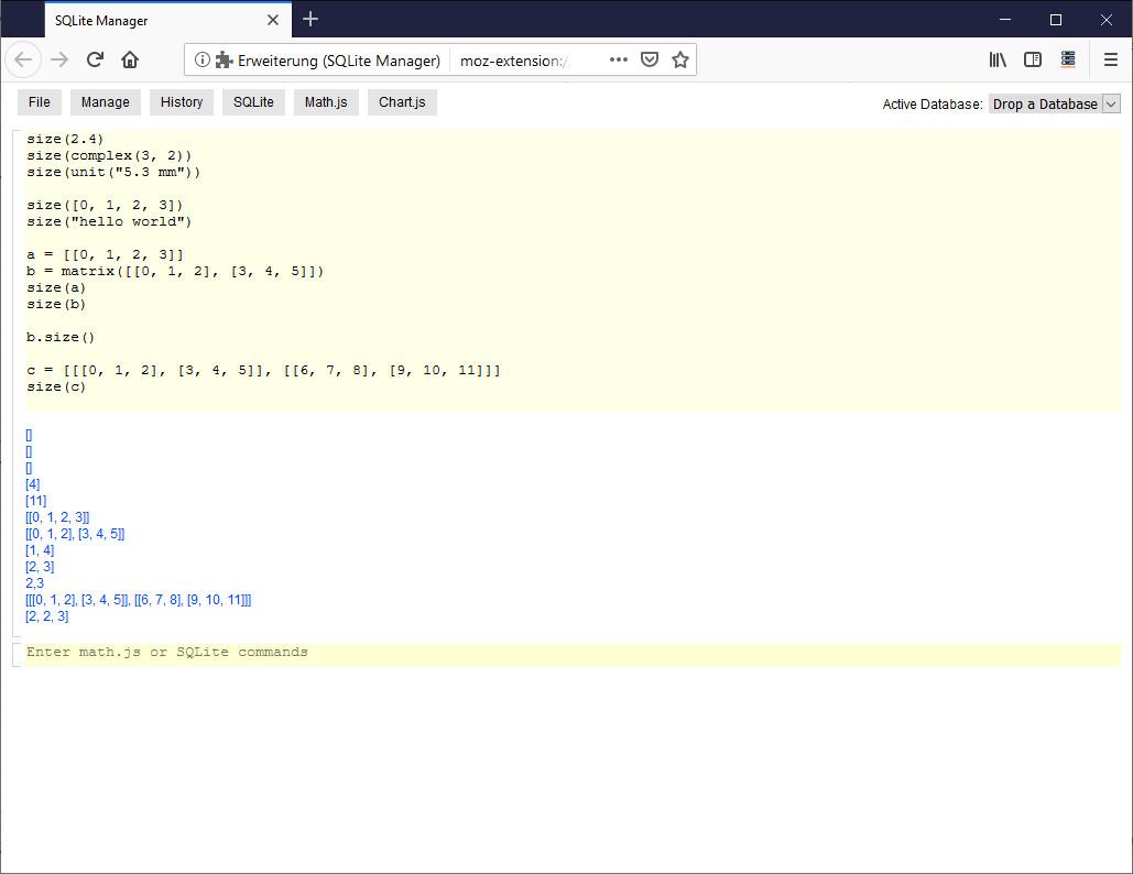 Screenshot 1 - SQLite Manager für Firefox