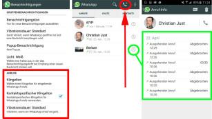 WhatsApp Call: Anruffunktion im Praxis-Test WhatsApp Call für Android bietet diverse Optionen, beispielsweise kontaktspezifische Klingeltöne oder unterschiedliche Vibrationsmuster.©COMPUTER BILD