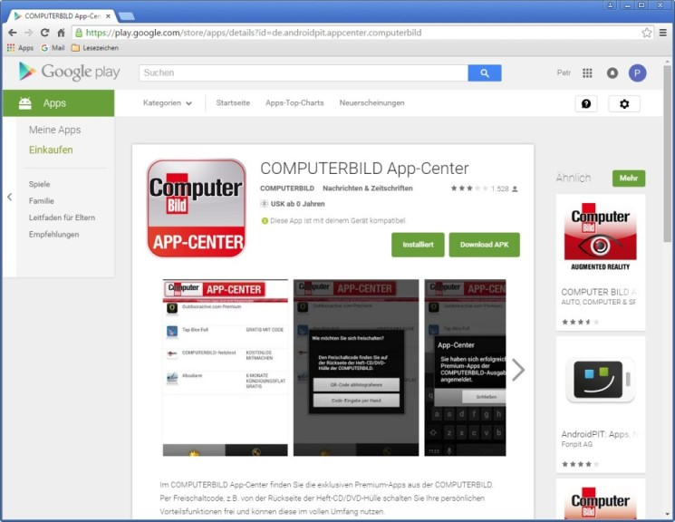 Screenshot 1 - APK Downloader für Chrome