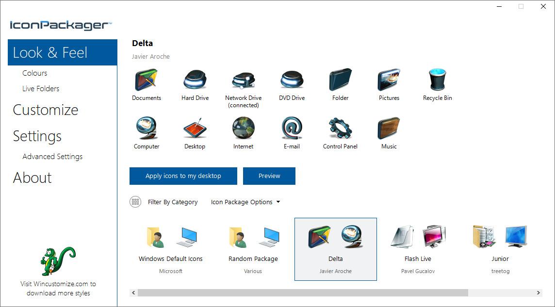 Screenshot 1 - IconPackager