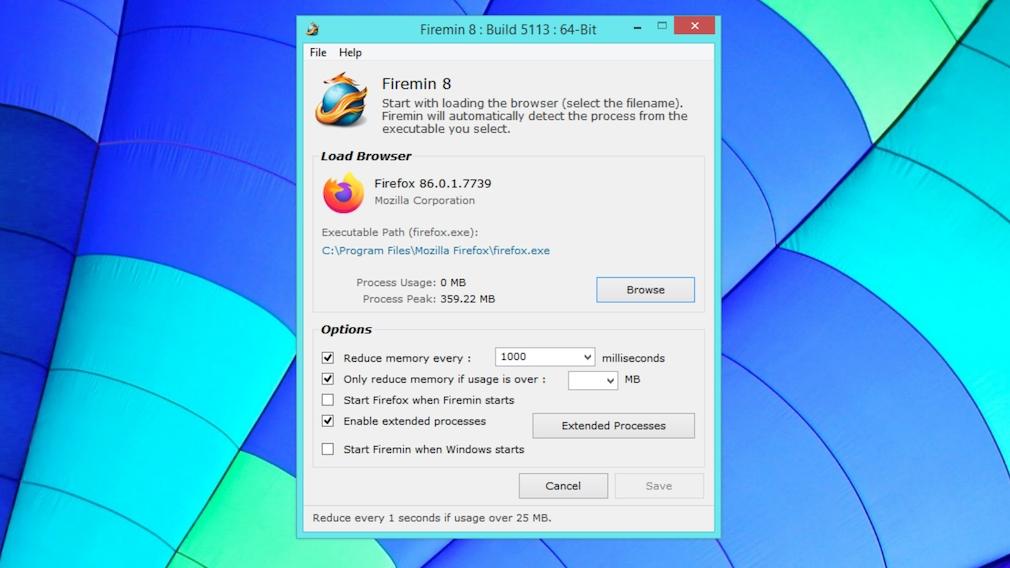 Firefox schneller machen: Mit genialen Tricks zum Raketen-Browser Mit der Rizonesoft-Software Firemin gebieten Sie einem Speicher verschwendenden Firefox Einhalt. Die Angabe des EXE-Dateipfades des Browsers ist nicht erforderlich.