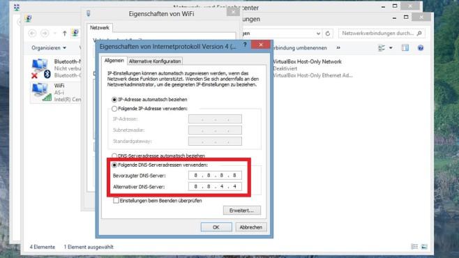 Alternativen DNS-Server nutzen ©COMPUTER BILD