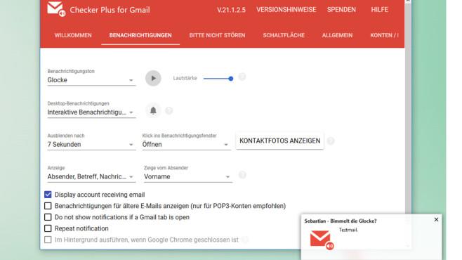 Checker Plus for Gmail: Neue E-Mails überblicken ©COMPUTER BILD