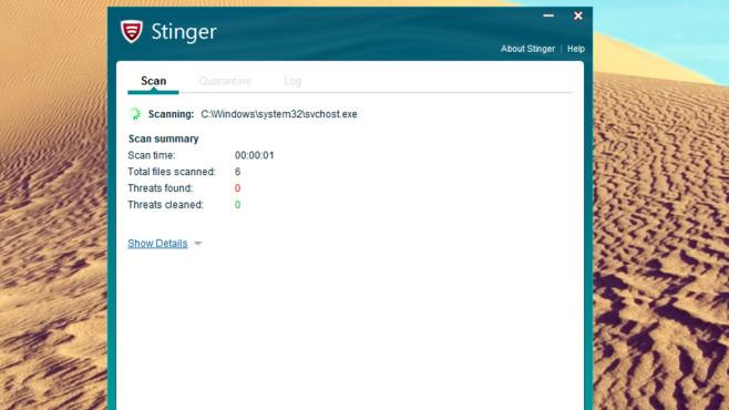 McAfee Labs Stinger: Schadprogramme entfernen ©COMPUTER BILD