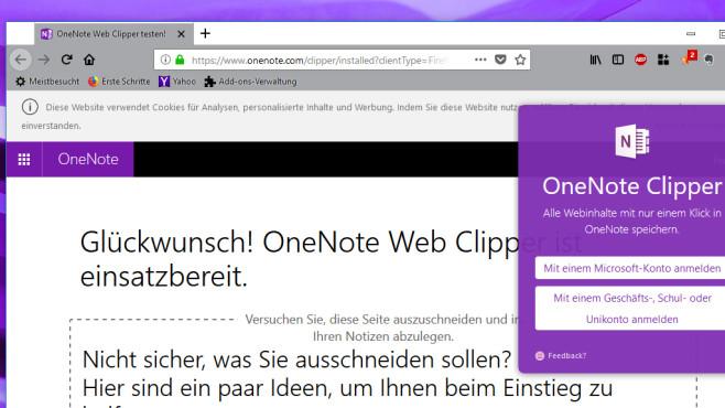 OneNote Web Clipper: Webseiten an OneNote senden ©COMPUTER BILD
