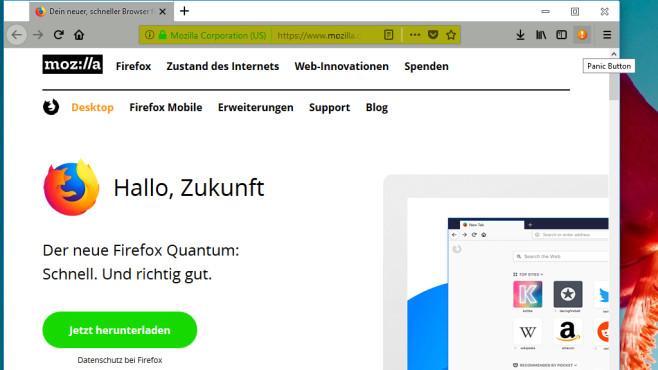 Panic Button: Webseiten schnell ausblenden ©COMPUTER BILD