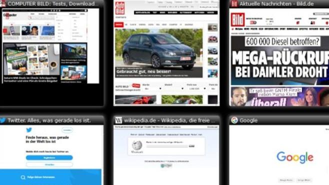"""Speed Dial: """"Neuer Tab""""-Seite gestalten ©COMPUTER BILD"""