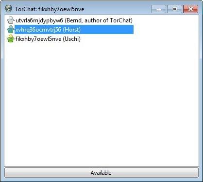 Screenshot 1 - TorChat