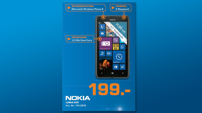 Nokia Lumia 625 ©Saturn