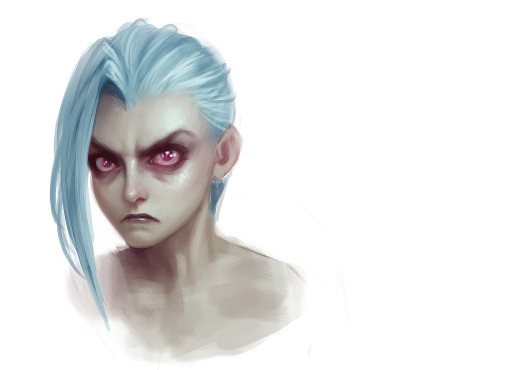 Jinx: Facial Expression grumpy © Riot Games