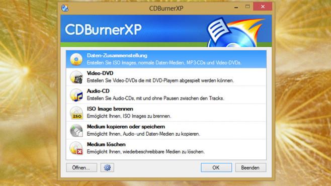 CDBurnerXP: Dateien brennen ©COMPUTER BILD