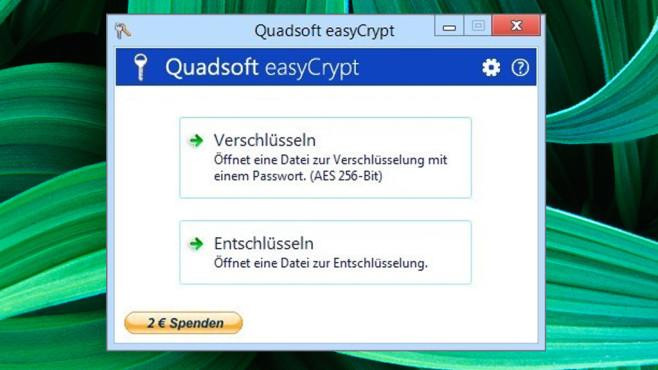 EasyCrypt: Dateien verschlüsseln ©COMPUTER BILD