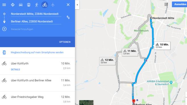 Google Maps: Online Routen planen ©COMPUTER BILD