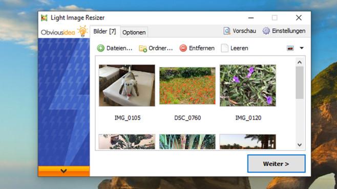 Light Image Resizer: Bilder verkleinern, bearbeiten ©COMPUTER BILD