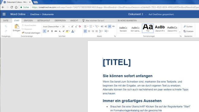 Microsoft Office Online: Büropaket gratis nutzen ©COMPUTER BILD