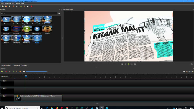 Open Shot Video Editor: Videos bearbeiten © COMPUTER BILD