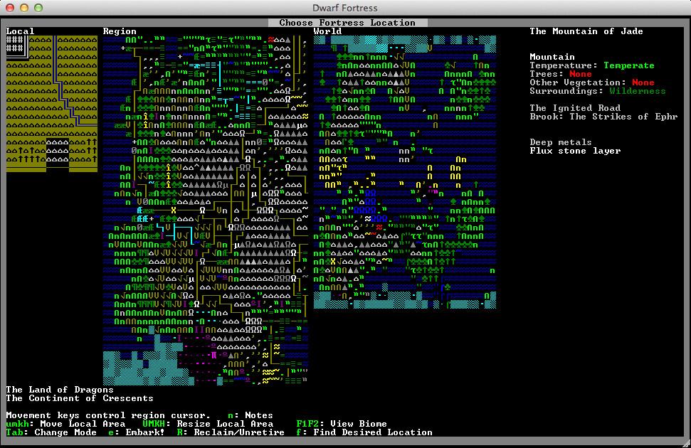 Screenshot 1 - Dwarf Fortress (Mac)