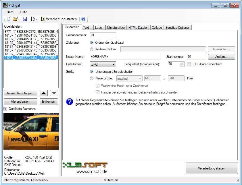 Screenshot 1 - Pictigal