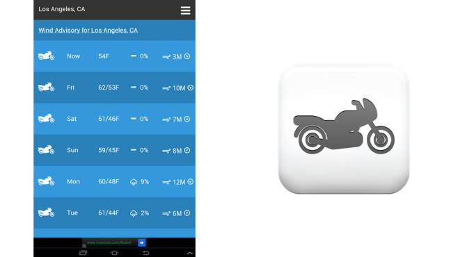 Motorradwetter ©Kickstand Technology LLC