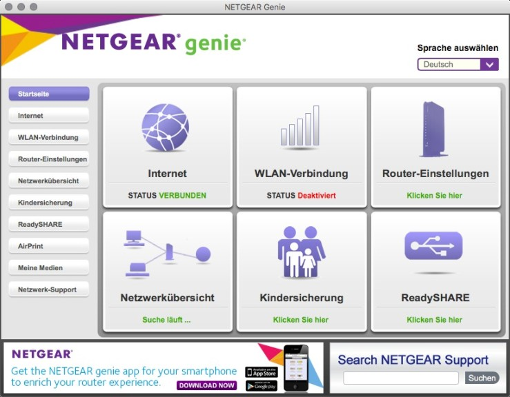 Screenshot 1 - Netgear Genie (Mac)