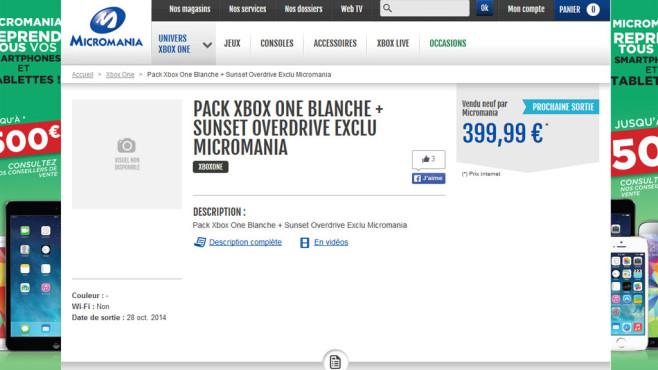 Xbox One: weiß©www.micromania.fr